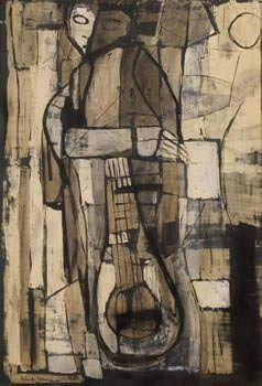 Yolanda Mohalyi - MÚSICOS - nanquim sobre papel - 73,5x49 cm - 1955