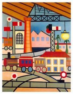 La Gare - óleo sobre tela, 84,5 x 65 cm. 1925
