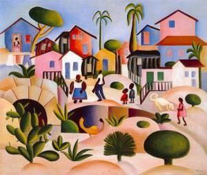 Morro da Favela - óleo sobre tela, 64 x 76 cm.