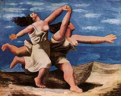 P. Picasso, Mulheres correndo na praia
