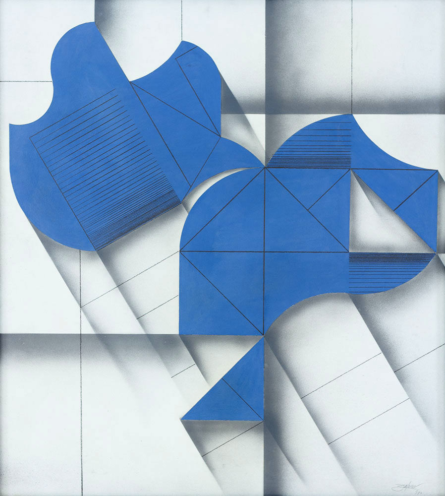 Abelardo Zaluar - Open Form Blue