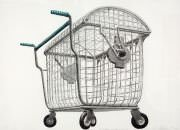 Los Carpinteros - Trash Shopping Cart (Version Grande)
